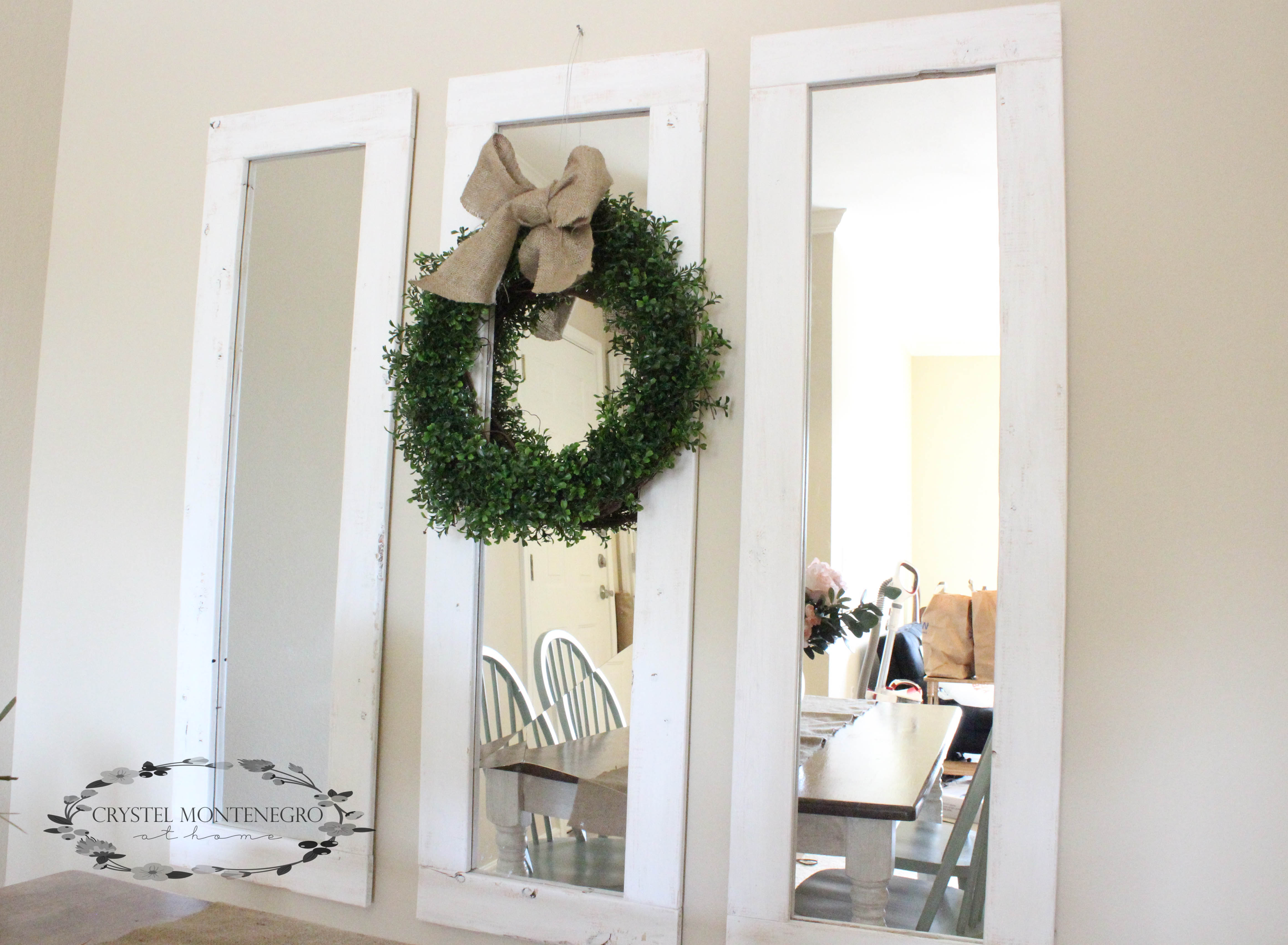 Rustic Wall Mirrors Diy 3 Farmhouse Mirrors For About 20 Total