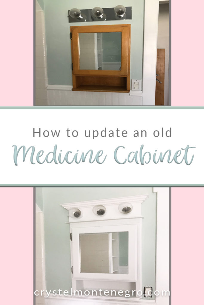 How To Update An Old Medicine Cabinet Crystel Montenegro At Home
